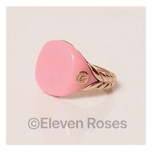 David Yurman 18k Gold Pink Bubblegum Ring